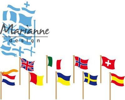 Marianne D Creatable vlaggen LR0603 55x30 mm