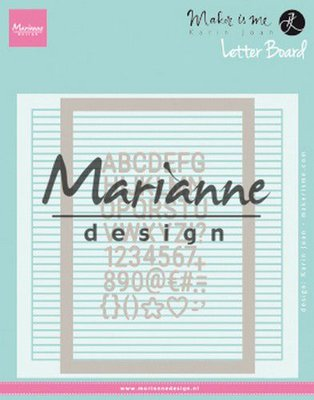 Marianne D Embossing folder Extra Karin Joan's Letter Board DF3454 152x154 mm