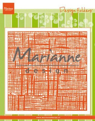 Marianne D Embossing folder Linnen DF3453 152x154 mm