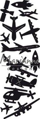 Marianne D Craftable Punch die - Aviation - luchtvaart CR1471 86,5x29,5 mm