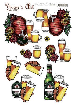 CD11343 3D Knipvel -Yvon's Art- Beer