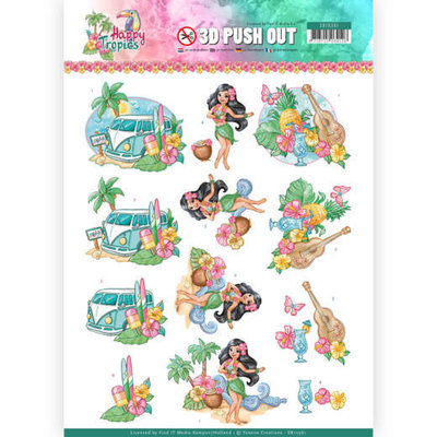 SB10361 3D Pushout - Yvonne Creations - Happy Tropics -Tropical Holiday