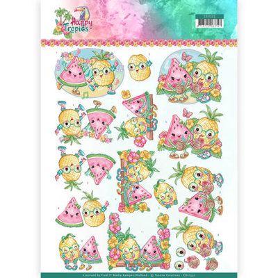 CD11332 3D Knipvel - Yvonne Creations - Tropical Fruits