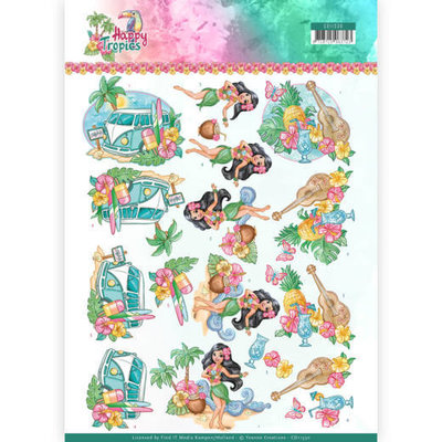 CD11330 3D Knipvel - Yvonne Creations - Tropical Holiday