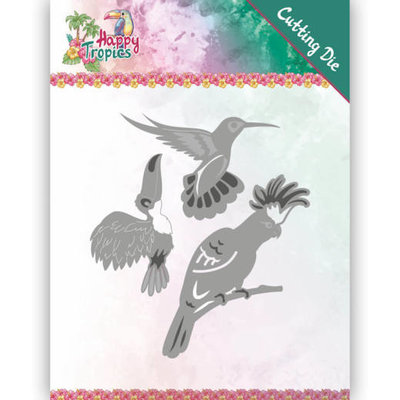 YCD10175 Dies - Yvonne Creations - Happy Tropics - Exotic Birds