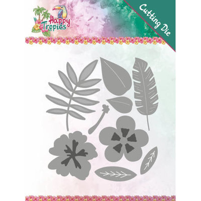YCD10174 Dies - Yvonne Creations - Happy Tropics - Tropical Blooms