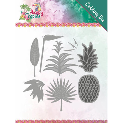 YCD10173 Dies - Yvonne Creations - Happy Tropics - Lush Leaves