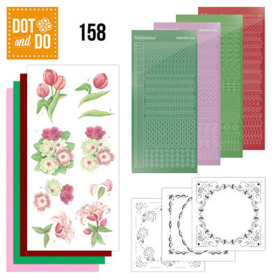 DODO158 Dot and Do 158 Red Flowers
