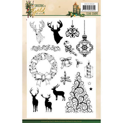 ADCS10059 Clear Stamps - Amy Design - Christmas in Gold - Images