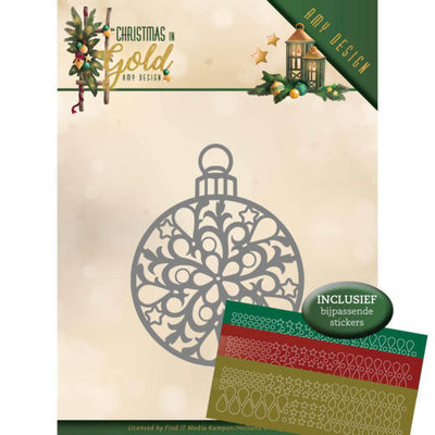 ADD10183 Dies - Amy Design - Christmas in Gold - Christmas Bauble Hobbydots