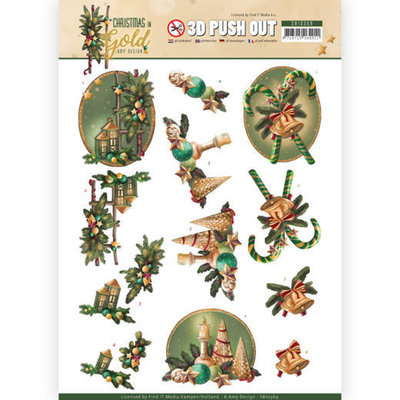 SB10369 3D Pushout - Amy Design - Christmas in Gold - Lanterns in Gold