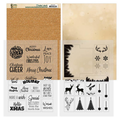 ADMC1003 Mica Sheets - Amy Design - Christmas in Gold