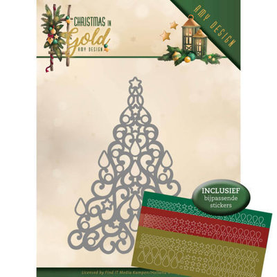 ADD10182 Dies - Amy Design - Christmas in Gold - Christmas Tree Hobbydots