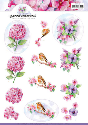 CD11362 3D knipvel - Yvonne Creations - Violets
