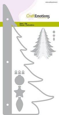 CraftEmotions Die - kerstboom decoratie 3D Card 10,5x14,8cm - 10,5cm - 14,5cm