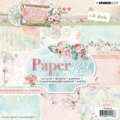 Studio Light Paper pad 36 vel Lovely Moments nr 124 PPLM124 15x15cm (07-19)