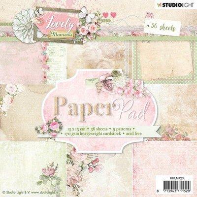 Studio Light Paper pad 36 vel Lovely Moments nr 123 PPLM123 15x15cm (07-19)