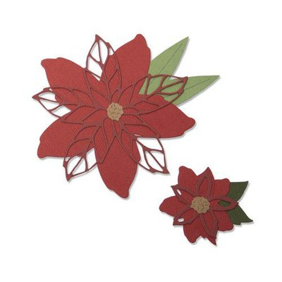 Sizzix Thinlits Die Set - 8PK Poinsettia 663464 Lisa Jones (07-19)