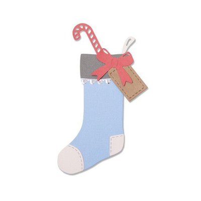 Sizzix Thinlits Die Set - 7PK Christmas Stocking 663426 Sophie Guilar (07-19)
