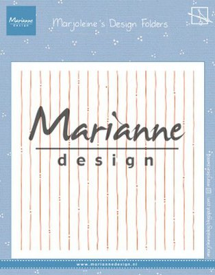Marianne D Embossing folder Marjoleine's stripes DF3456 152x154mm