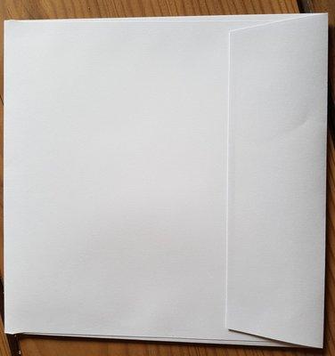 1000 stuks vierkante enveloppen 16x16 wit 120 grams