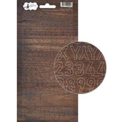 Piatek13 - Alphabet sticker sheet Soulmate 01 P13-MAT-17 10,5x23 cm