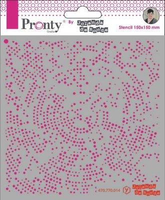 Pronty Mask stencil 15x15 Dots Radius 470.770.014 by Jolanda