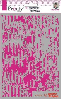 Pronty Mask stencil A5 Grunge Lines 470.770.011 by Jolanda