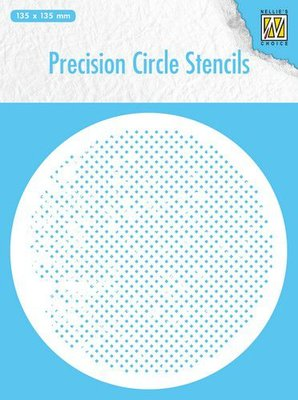 Nellie's Choice Precision stencils Rond stencil vierkanten MMPCS005 135x135mm