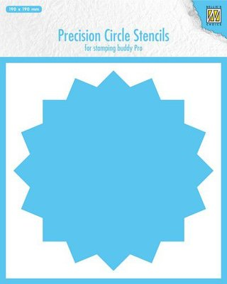 Nellie's Choice Precision stencils 16-punts cirkel MMPCS003 190x190mm