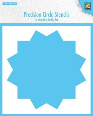 Nellie's Choice Precision stencils 12-punts cirkel MMPCS002 190x190mm
