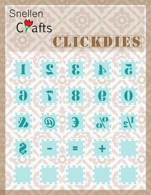 Nellie's Choice Clickdies Cijfers en leestekens SCCD003 15x15mm