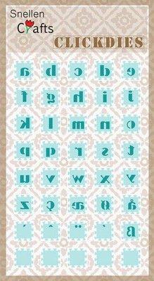 Nellie's Choice Clickdies alphabet-2 (kleine letters) SCCD002 15x15mm