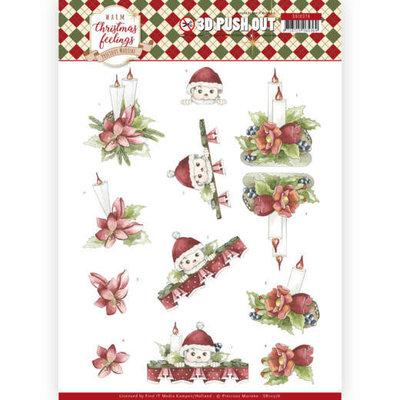 SB10376 3D Pushout - Precious Marieke - Warm Christmas Feelings - Christmas Candles