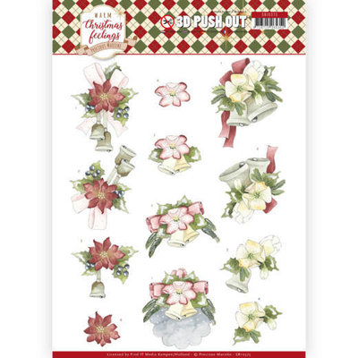 SB10375 3D Pushout - Precious Marieke - Warm Christmas Feelings - Christmas Bells