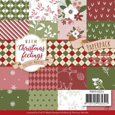 PMPP10024 Paperpack - Precious Marieke - Warm Christmas Feelings