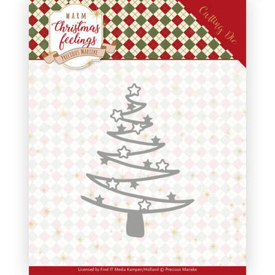 PM10164 Dies - Precious Marieke - Warm Christmas Feelings - Star Tree