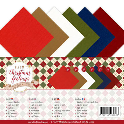 PM-A5-10023 Linnenpakket - A5 - Precious Marieke - Warm Christmas Feelings