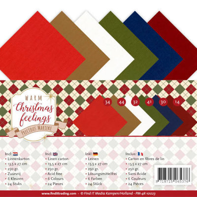 PM-4K-10023 Linnenpakket - 4K - Precious Marieke - Warm Christmas Feelings