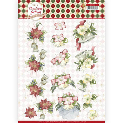CD11318 3D Knipvel - Precious Marieke - Warm Christmas Feelings - Christmas Bells