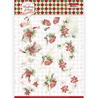 CD11316 3D Knipvel - Precious Marieke - Warm Christmas Feelings - Red Christmas Ornaments