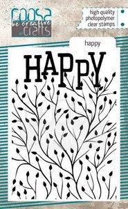 COOSA Crafts clearstamps A7 - Happy COC-090
