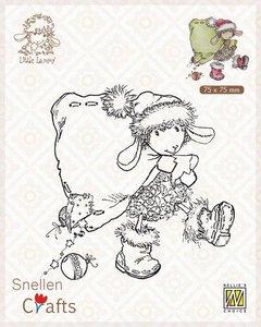 Nellie's Choice Clear stamps Little Lammy Santa Lammy SCLOLA004 75x75mm