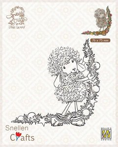 Nellie's Choice Clear stamps Little Lammy Christmas decoration SCLOLA003 76x75mm