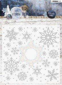 Studio Light Embossing Folder With Die Cut, Snowy Afternoon nr.02 EMBSA02