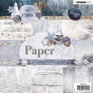 Studio Light Paper pad 36 vel Snowy Afternoon nr.125 PPSA125 15x15cm