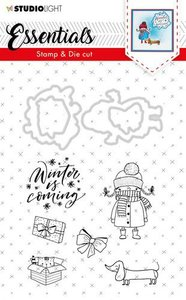 Studio Light Stamp & Die Cut A6 Essentials Christmas nr 28 BASICSDC28