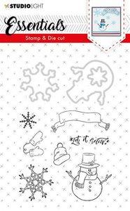 Studio Light Stamp & Die Cut A6 Essentials Christmas nr 27 BASICSDC27