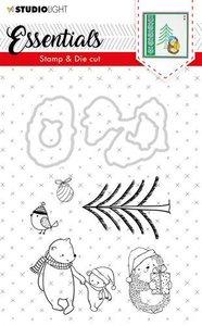 Studio Light Stamp & Die Cut A6 Essentials Christmas nr 25 BASICSDC25