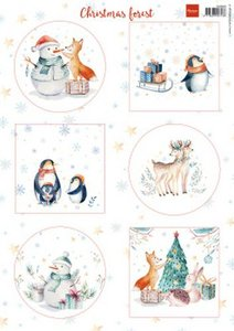 Marianne D Decoupage vellen Christmas Forest VK9580 A4
